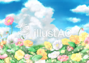 Landscape_of_blue_sky_and_flower_field