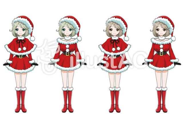 クリスマス・サンタ姿の女の子/全身