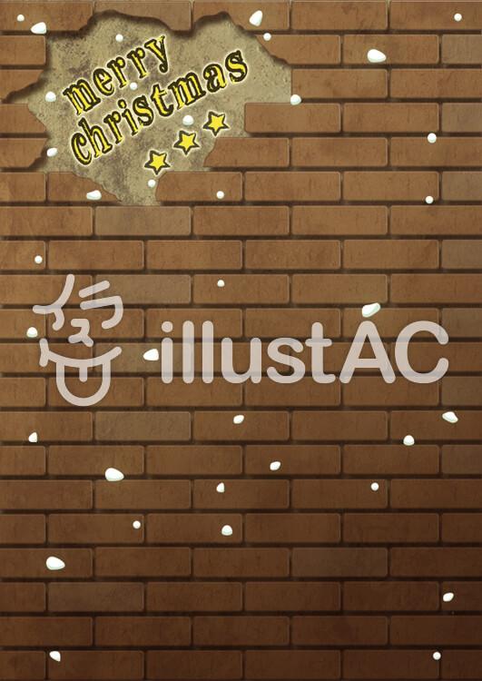 クリスマスカード/レンガの背景